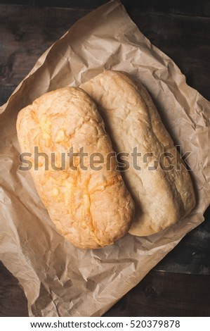 ciabatta with cheese