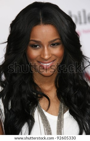 Ciara at the 2011 T-Mobile NBA All-Star Game, Staples Center, Los Angeles, CA 02-20-11