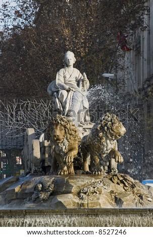 cibeles,Madrid,Spain - stock photo