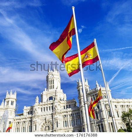 Cibeles museo and  located downtown Madrid, Spain  - stock photo
