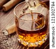 Cigar And Cognac - stock photo