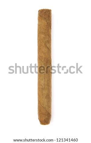 Cigar. Isolated on a white background - stock photo