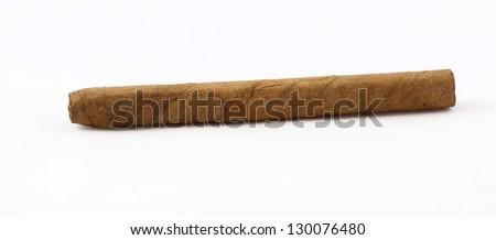 Cigar isolated on white - stock photo