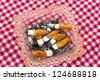 cigarette and ashtray - stock photo