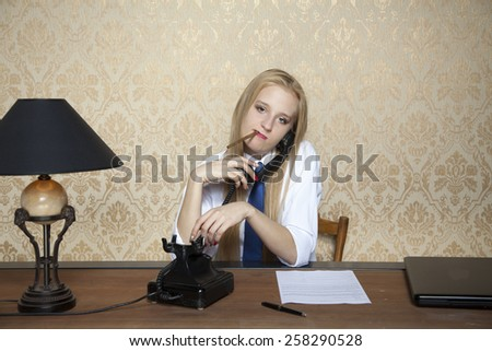 cigarette and talking on the phone - stock photo