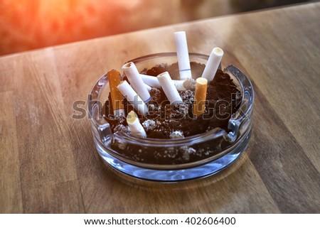 cigarette box . - stock photo