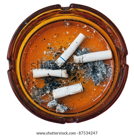 Cigarette Buts designed to put people of smoking, great for use on a stop smoking program website/ Stop smoking - stock photo