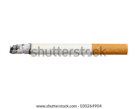 cigarette isolated - stock photo