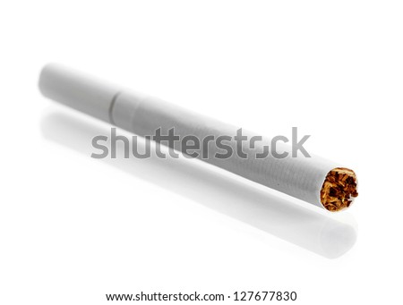 Cigarette isolated on a white - stock photo