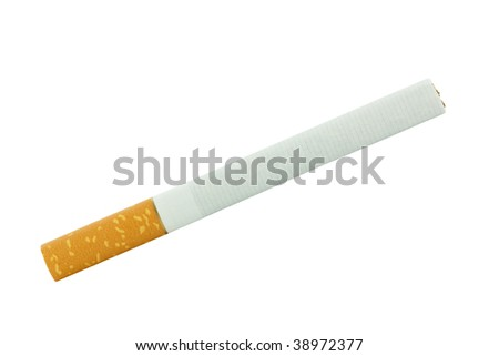 cigarette isolated on white - stock photo