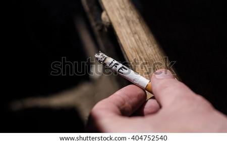 Cigarette life - stock photo