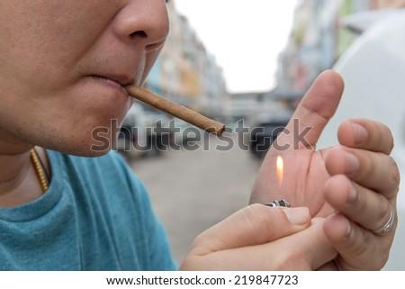 Cigarette lighting up & Cigarette Light Up Stock Images Royalty-Free Images u0026 Vectors ... azcodes.com