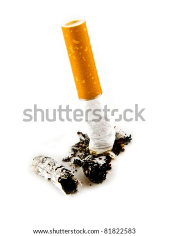cigarette on a white background - stock photo