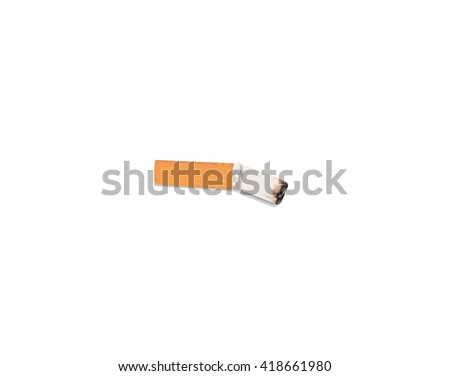 cigarette on white background
