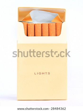 cigarette pack - stock photo