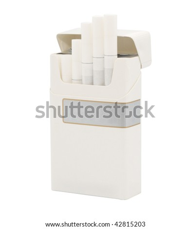 Cigarette pack. Isolated object. - stock photo