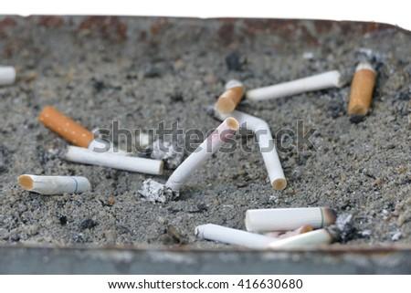 cigarette stub - stock photo