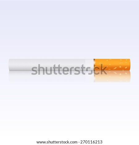 Cigarette with reflection. Raster version