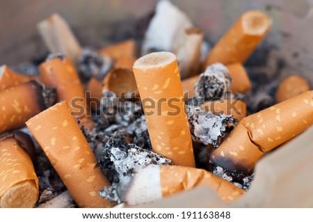 cigarettes background - stock photo