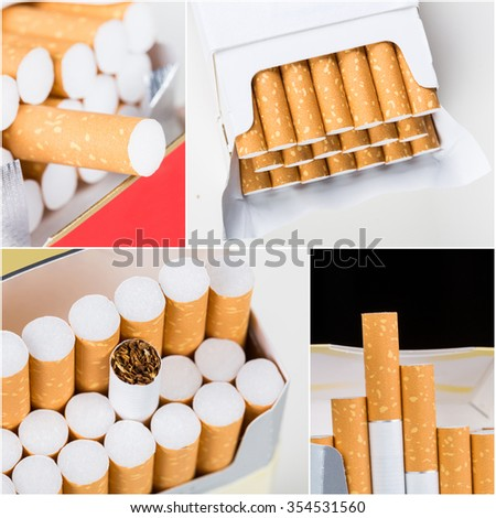 Cigarettes collage
