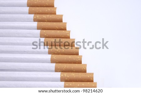 cigarettes in a row