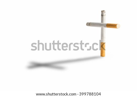 cigarettes like a cross - stock photo
