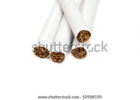 cigarettes on the white isolated background