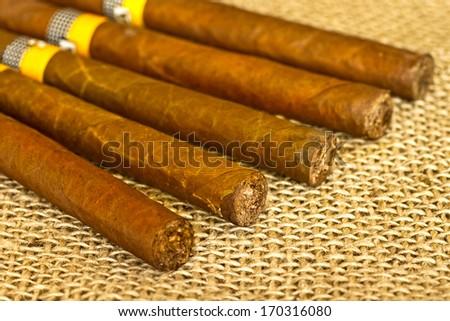 Cigars closeup  - stock photo