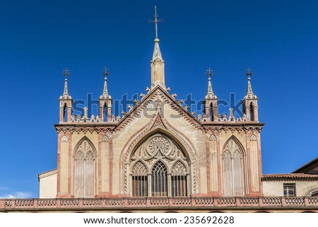 Cimiez Monastery and church, which have been used by the Franciscan monks since the 16th century. Nice, France. - stock photo
