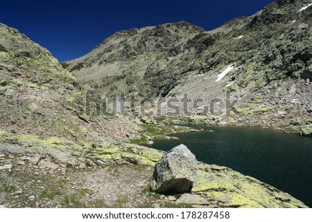 Cinco Lagunas in Sierra de Gredos - stock photo