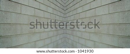 cinder block walls converging to a point - Cinder Block Wall Design