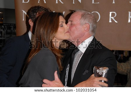 "Cindy Crawford and Jerry Weintraub at a celebration of Jerry Weintraub's New Book ""When I Stop Talking You'll Know I'm Dead,"" Barney's New  York, Beverly Hills, CA. 05-18-10"