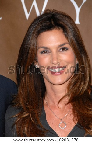 "Cindy Crawford at a celebration of Jerry Weintraub's New Book ""When I Stop Talking You'll Know I'm Dead,"" Barney's New  York, Beverly Hills, CA. 05-18-10 - stock photo"