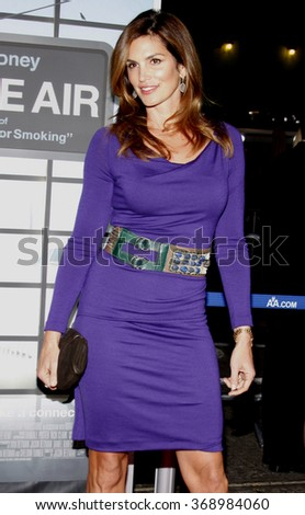 """Cindy Crawford at the Los Angeles Premiere of """"Up In The Air"""" held at the Man Village Theater in Westwood, USA on November 30, 2009. - stock photo"""