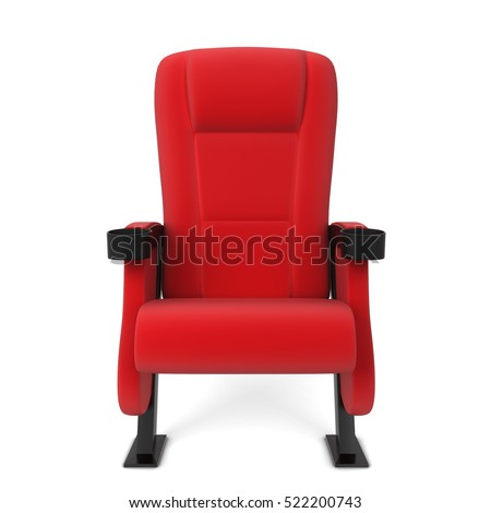 Lovely Cinema Chair. 3d Illustration Isolated On White Background