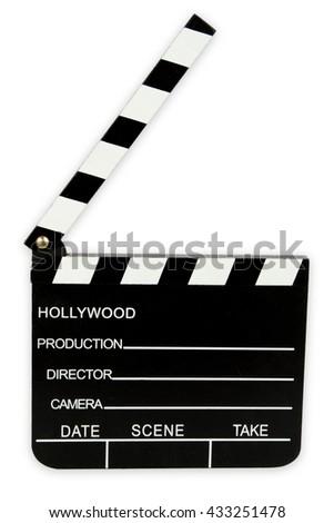 Cinema Clipboard isolated on white background - stock photo