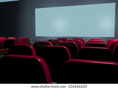 CINEMA - 3D - stock photo