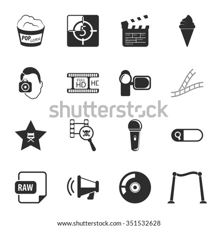 Cinema icons set. Cinema icons simple. Cinema icons. Cinema set app. Cinema set vector. Cinema set eps. Cinema icons UI. Cinema icons sign. Cinema icons art. Cinema set. Cinema set logo. Cinema set. - stock photo