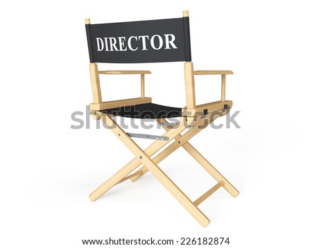 Cinema Industry Concept. Directors Chair on a white background - stock photo