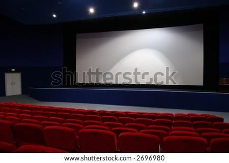 cinema interior 3 - stock photo