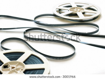 cinema 8 mm film strip with 2 spools
