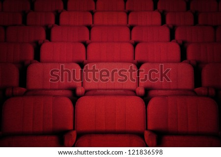 Cinema seats - stock photo