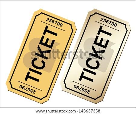 Cinema ticket - stock photo