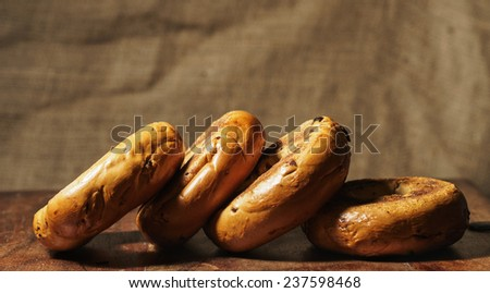 Cinnamon and Raisin Bagels