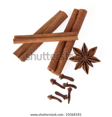 cinnamon, anise and cloves