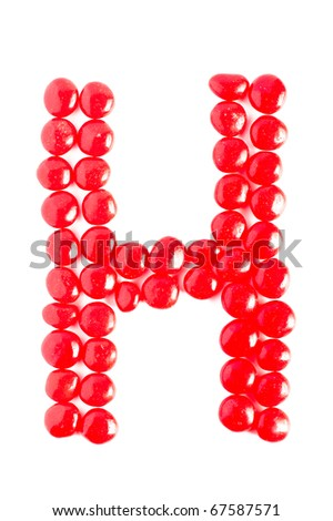 Cinnamon Candy Letter H - stock photo