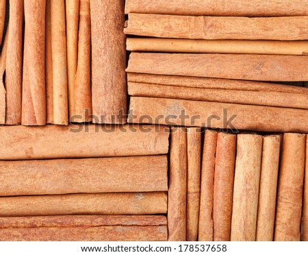 Cinnamon closeup food texture background - stock photo