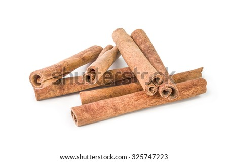 cinnamon  isolated on a white cutout