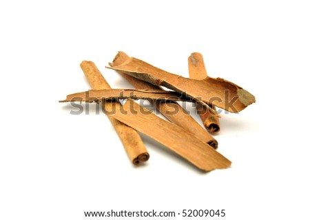 Cinnamon isolated on white - stock photo
