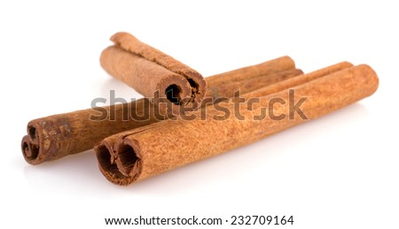 Cinnamon isolated on white background cutout